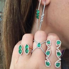 Djula Jewelry: Come to visit us today in our new store in New York : 155 Spring Street Soho🌟 Gold Diamond Rings, Emerald Diamond, Diamond Jewelry, Djula Jewelry, Stephanie Gottlieb, Jewelry Sets, Fine Jewelry, Jewellery, Jade Ring