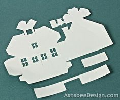 Ashbee Design Silhouette Projects: 3D Ledge Village - Schoolhouse -Silhouette Tutorial