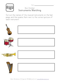 find the sum worksheet musical instruments | Kids Learning ...
