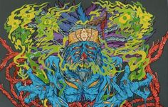 Juxtapoz Magazine - Gnarly Illustrations by Scarecrowoven