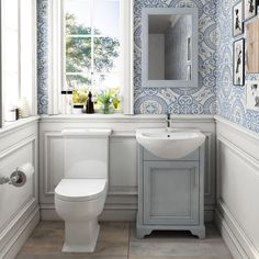 Traditional cloakroom toilet set suitable for downstairs ensuites and that downstairs toilet perfect for that chic designer look that every vistor will admire.