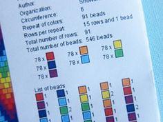 How to read crochet bead pattern