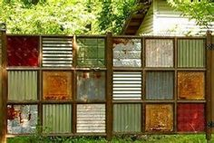 Image result for fences from unusual materials
