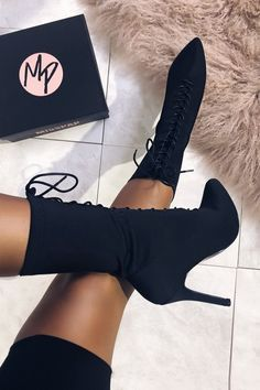 Sock are gorgeous, fashionable styles portion that might be ideal for modern real world trend outfit with mini skirt and capri pants in the event the climate is bloodless. Black Thigh High Boots, High Heel Boots, Heeled Boots, Bootie Boots, Shoe Boots, Shoes Heels, Fancy Shoes, Cute Shoes, Cute High Heels