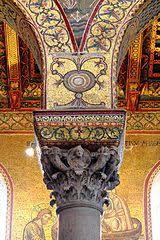 Znalezione obrazy dla zapytania Monreale, Sizilien. Kreuzgang Säulen Byzantine Architecture, Romanesque Architecture, Temple Architecture, Romanesque Art, Art Roman, Masonic Symbols, Mosaic Artwork, Byzantine Art, Early Christian