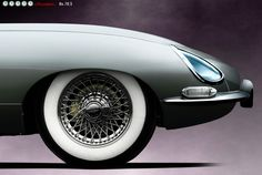 a jaguar e-type , one of the most, if not thee most amazing car to ever have roamed pon this earth !