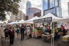 Farmers Market, Downtown Austin. Republic Park