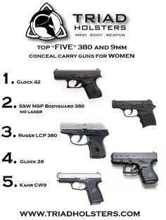 Five Best Conceal Carry Guns for Women