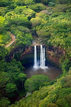 Wailua Falls - Lihue, Kauai, Hawaii one of the most beautiful places I would love to go to. The clear water and warm breeze. Hawaii Vacation, Vacation Places, Hawaii Travel, Dream Vacations, Vacation Spots, Places To Travel, Places To See, Maui, Kauai Hawaii