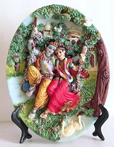 Radha Krishna on Swing - Resin Statues (Poly Resin) Krishna Statue, Krishna Art, Shree Krishna, Hanuman, Durga, Lord Ganesha Paintings, Krishna Painting, Lord Krishna Images, Radha Krishna Pictures