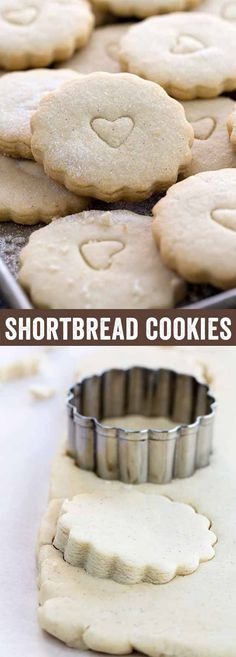 Delicious vanilla flavored shortbread cookies made with only four ingredients! The perfect holiday cookie recipe to share with friends and family or give as a gift. via @foodiegavin
