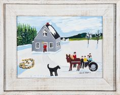 Going to Church by Maud Lewis