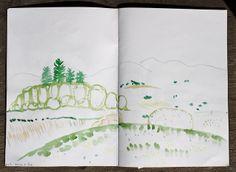 Jane Cabrera -- Sketchbook USA 2012 Vermont