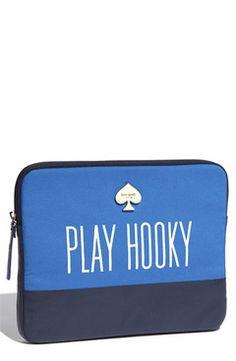 I love this kate spade new york 'play hooky' neoprene iPad sleeve (via Shop It To Me)