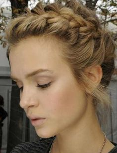 Plaited updo #beauty