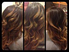 dark brown hair with auburn lowlights and copper highlights   Healthy Hair Is Beautiful Hair..: Dark brown hair color with Copper ...