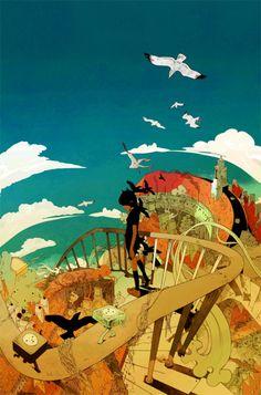 Shan Jiang - Illustratore e graphic designer cinese Arte Cyberpunk, Electronic Art, A Team, Illustrations Posters, Illustrators, Graphic Art, Concept Art, Game Concept, Cool Art