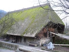 Typical 15 century German farm house. Complete with family living quarters, animal barns, farm machinery and beer making facilities all under one roof. No one gets cold in this family.