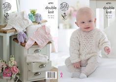 King Cole Baby Sweaters Smarty DK Knitting Pattern 4791