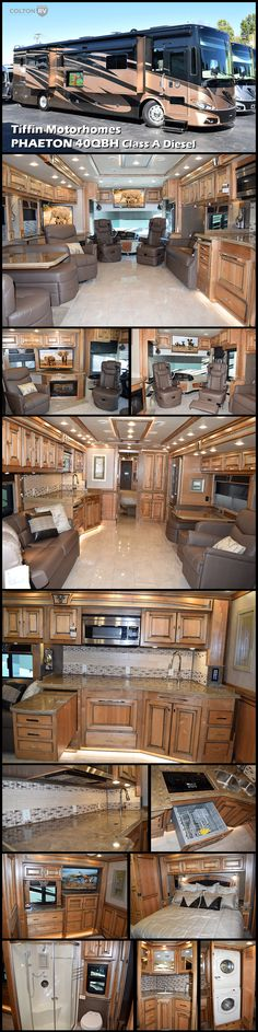 Remarkable in every way, the 2017 Tiffin Motorhomes PHAETON 40QBH Class A Diesel Coach brings the pampered comfort of first-class travel to the open road. It's easy to see why this model has been called America's favorite Class A diesel pusher. From its five-star bedroom suite to the chef-friendly kitchen, the elegantly appointed coach is a showcase of luxury, loaded with thoughtful amenities to maximize fun on the go!