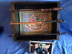 Harry Potter Deluxe 3 Wand Set includes Neville, Luna and Ginny wands, Wand display, group photo & Hogwarts school canvas poster