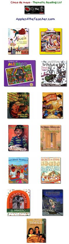 Suggested thematic reading list for cinco de mayo - Cinco de mayo books for kids.