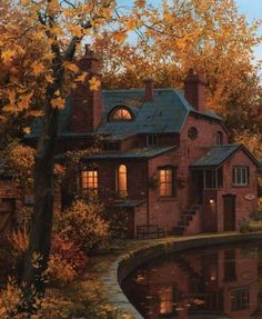 Charming cottage in the fall