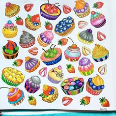 Adult Coloring Pages, Coloring Books, Colored Pencil Techniques, Markova, Food Themes, Botanical Art, Fashion Sketches, Colored Pencils, Color Inspiration