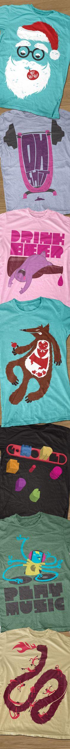 G-world t-shirt designs number two by Goktug Ozge, via Behance