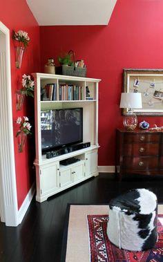 idée déco de salon et meuble pour télé d'angle