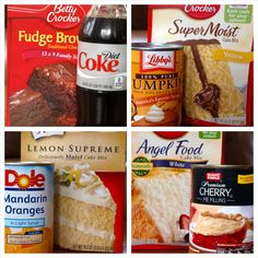 Looks like I'll be making some of these this weekend!! http://hubpages.com/hub/Two-Ingredient-Cake-Mix-Recipes