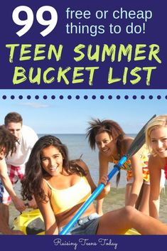 The ultimate teen summer bucket list! We've rounded up 99 things to do that are cheap or totally free! From sneaking in a kiss with a crush and DIY crafts to making your slip and slide and dancing the night away with friends, every teen will find somethin Teen Summer, Summer Fun, Teen Fun, Summer Activities For Kids, Family Activities, Cheap Things To Do, Fun Things, Summer Slide, College Fun