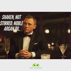 Saturday night mood - #noblearganoil #noble_commitment #arganoil #arganöl #argan #saturdaynight #saturday #jamesbond