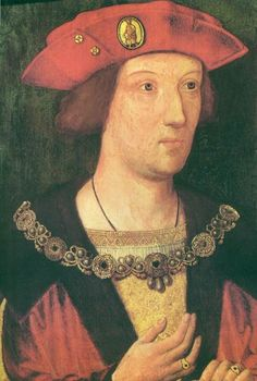 A portrait of Arthur Tudor, the first son of King Henry VII  and Elizabeth of York. When Prince Arthur died prematurely, his brother Henry took his place, becoming King Henry VIII of England in 1509.