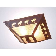 Steel Partners Band of Moose Drop Ceiling Mount Finish: Black, Shade Color: White Mica