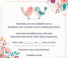Convites de Casamento para Imprimir - Modelos para Editar – Modelos de Convite Wedding Invitations, Leonardo, Biceps, Home Decor, Lima, Manual, Best Man Wedding, Wedding Things, Weddings