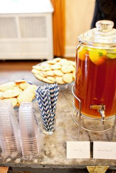 ice tea wedding station - photo by Katie Stoops via United With Love