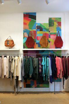 L'habilleur. Paris. Wall Flowers, Flower Wall, Visual Merchandising, Wardrobe Rack, Walls, Places, Pretty, Pattern, Furniture