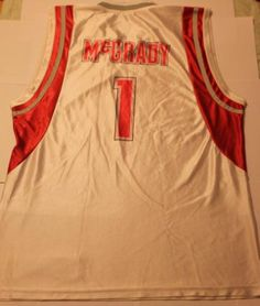 £0.99 NBA White Red 1 Tracy McGrady Houston Rockets Jersey Men's Jersey Used Shirt | eBay