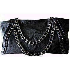 d54cc736e1a9 Preowned Chanel Modern Chain Tote Bag Xl Extra Large Luxe Ligne Black... (