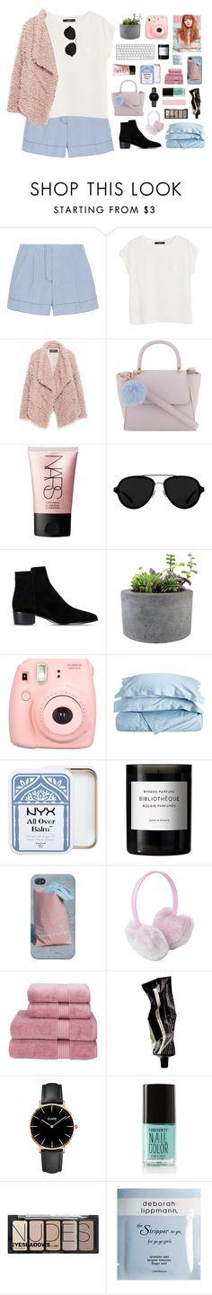 """Chanel Oberlin"" by ughtara ❤ liked on Polyvore featuring 3.1 Phillip Lim, MANGO, Zara, Skinnydip, NARS Cosmetics, Rough Fusion, Polaroid, NYX, Byredo and Christy"