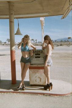 two young beautiful girls, lost and free