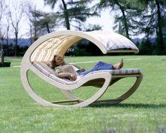 Кровать-качалка для отдыха из листа фанеры своими руками.Чертёж скачать бесплатно с сайта самоделок Всё легко.