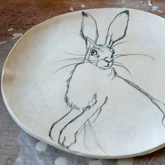 party plates, bunni plate, rabbit plate