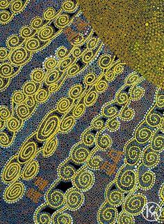 """Sun Dance"" by Merill Bray 99cm x 133cm ***ON SALE $3,800***  http://www.aboriginalartstore.com.au/artists/merill-bray/sun-dance/"