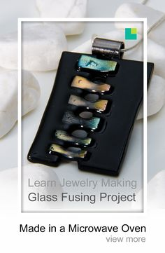 Black dichroic stiched glass fused pendant made in a microwave oven with a microwave kiln. This glass jewelry / jewellery pendant was made with black COE 96 bullseye glass. Make sure you have a look at our very comprehensive glass fusing course. Fused Glass Jewelry, Fused Glass Art, Stained Glass Art, Glass Pendants, Dichroic Glass, Glass Fusing Projects, Bullseye Glass, Shattered Glass, Glass Wall Art