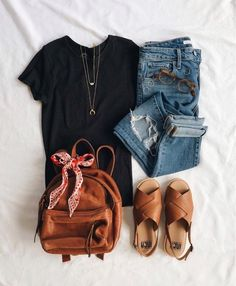 summer casual outfit ideen for teens frauen shorts outfits Casual Summer Outfits, Spring Outfits, Outfit Summer, Laid Back Outfits, Black Outfits, Casual Winter, Curvy Outfits, Dress Casual, Fall Winter Outfits