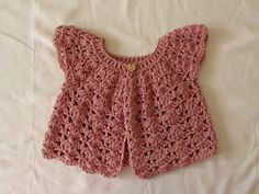 How to crochet a pretty shell stitch cardigan / sweater - baby and girl's sizes - YouTube                                                                                                                                                                                 More