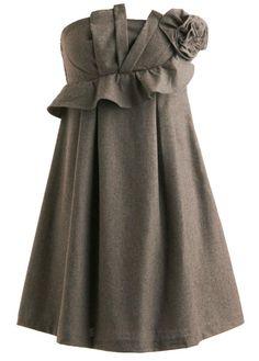 Sculpted Wool Dress   # Pin++ for Pinterest #