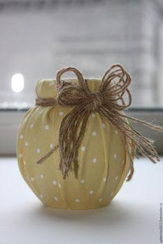Превращаем баночку в симпатичную вазочку - Ярмарка Мастеров - ручная работа, handmade